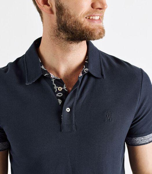 Polo shirt print detail PERCY