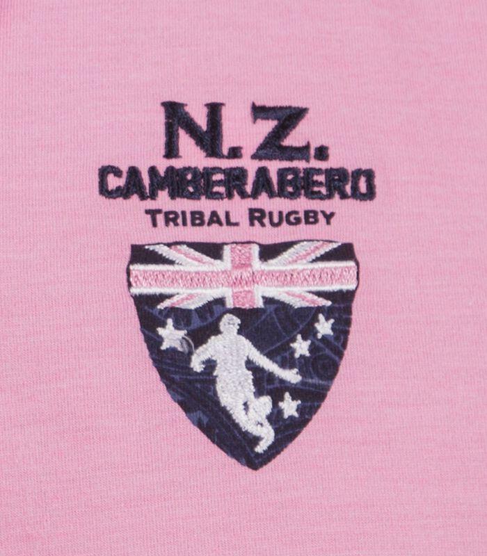 Polo in jersey tweekleurig roze image number 3