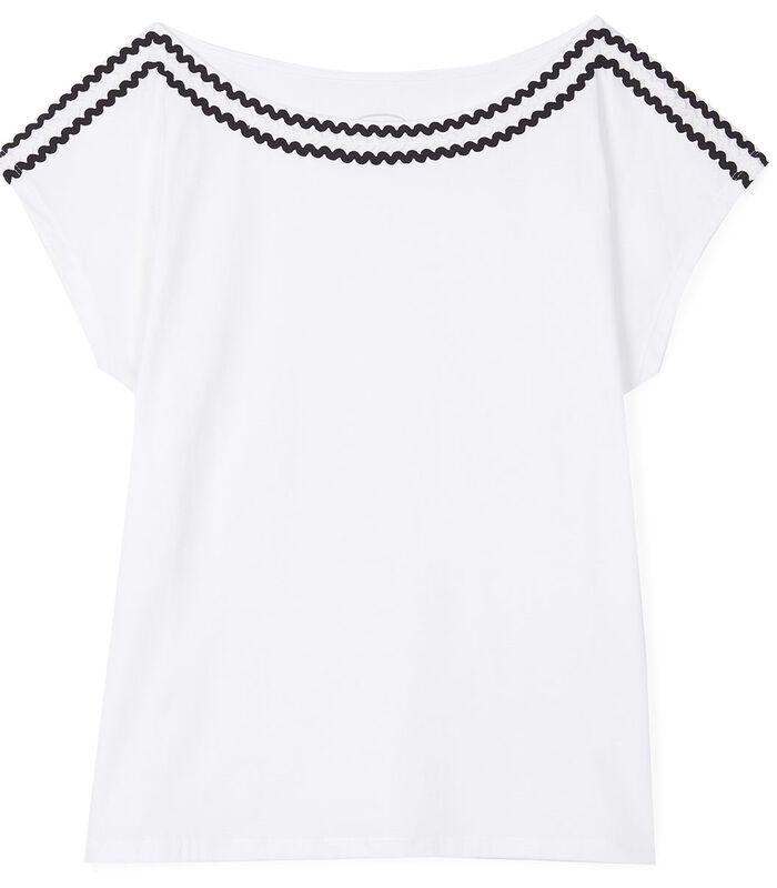 T-shirt zigzagafwerking TROPIQUE image number 1