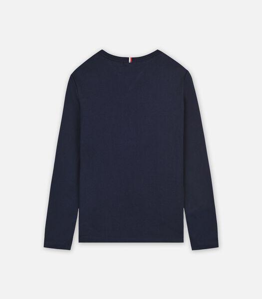T-shirt lange mouwen Blauw