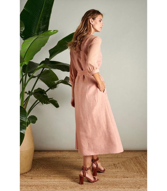 Romantische maxi jurk in oudroze image number 1