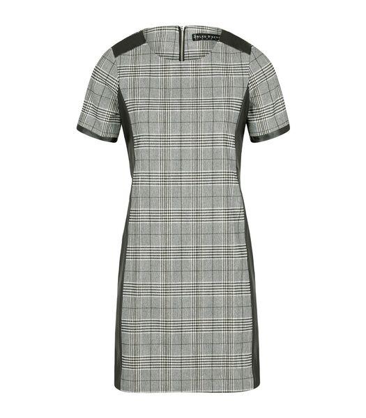 Prins van Wales bi-materiale jurk ROXY