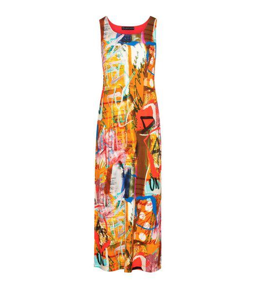 Art print jersey maxi jurk MONDRIAN