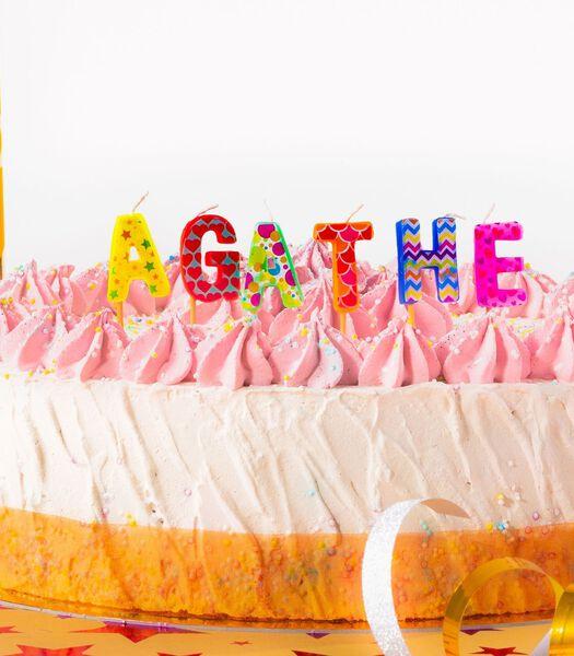 Bougies d'anniversaire prénom Agathe