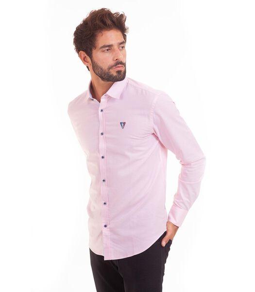 Overhemd in popeline met lange mouwen