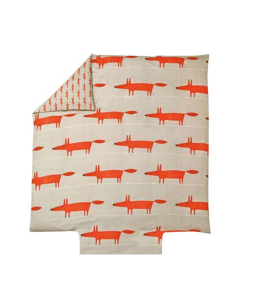 MR FOX Mandarine - Housse de couette Percale de coton