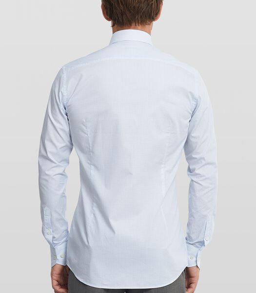Dobby shirt met geblokt dessin