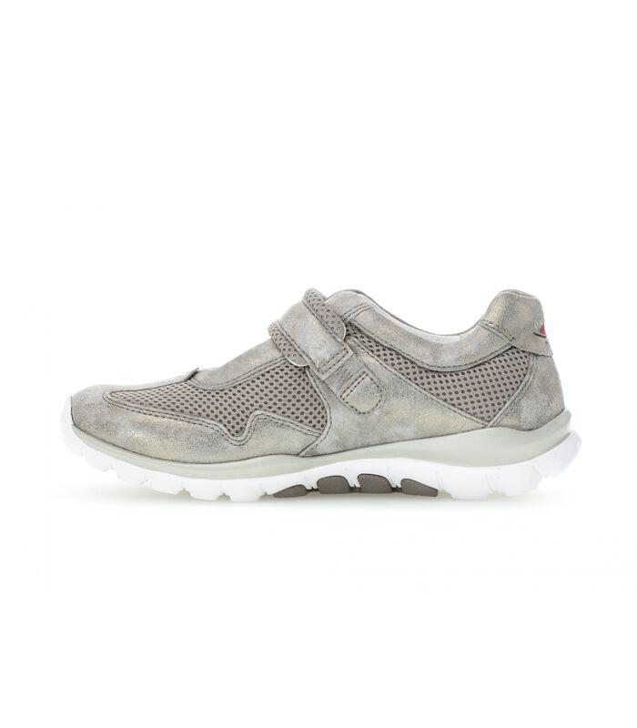 Sneakers plat textiel image number 1