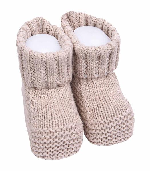 Chaussons bébé en tricot de coton bio