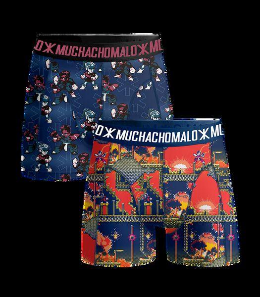 Men 2-pack shorts Super 16bit Print/Print L