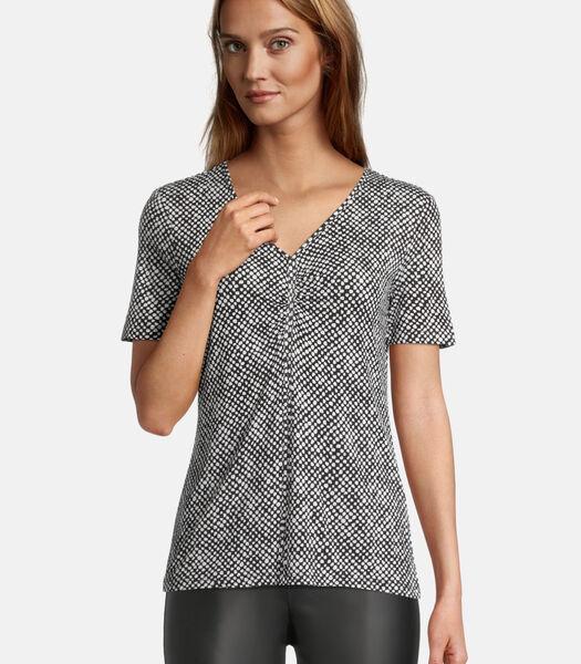 Shirt met print met rimpeling