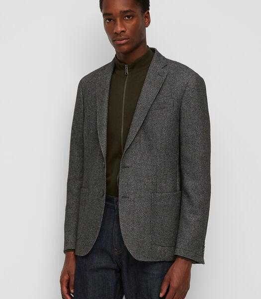 Veston à empiècement amovible par zip