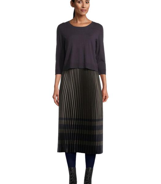 Midi-jurk met plissé