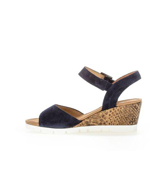 Sandalen met sleehak met bovenlaag van opgeruwd leer