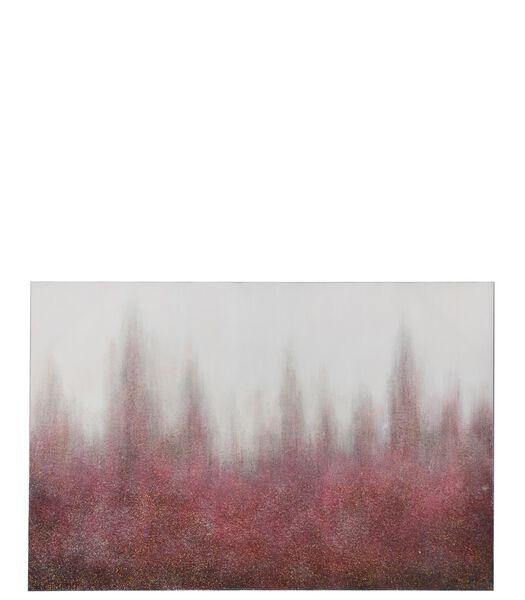 Peinture Flash Canevas/Bois Bordeaux/Blanc Casse