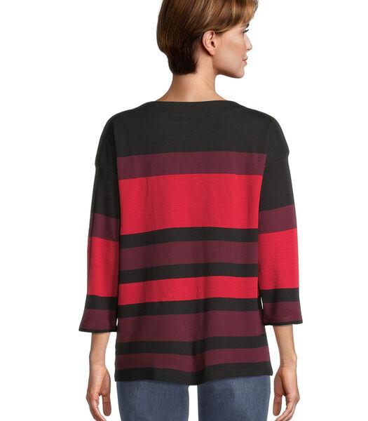 Sweatshirt met knoopsluiting