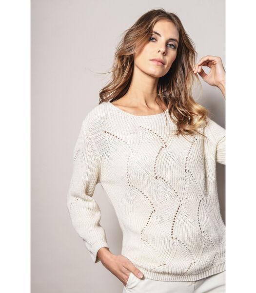 Trendy crèmekleurige trui