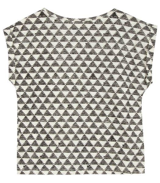 Bedrukt T-shirt met mooie strik