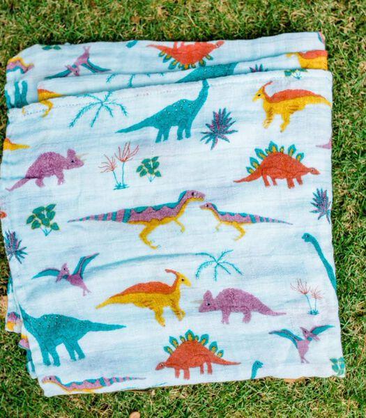 Mousseline coton d'emmaillotage|L (Embroidosaurus Set)