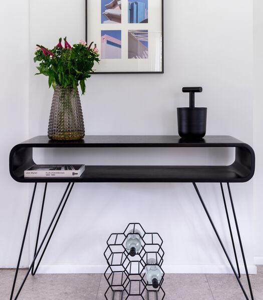 Metro Sofa Tafel Zwart/ Zwarte Poten
