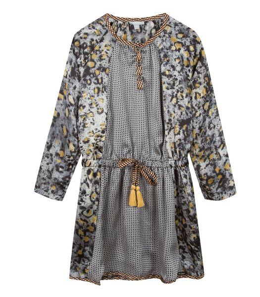Geprint jurk met ruches