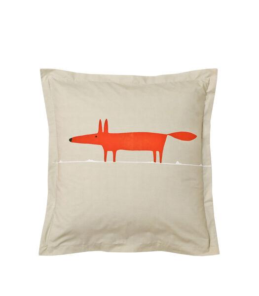 MR FOX Mandarine - Kussensloop Perkaal Katoen