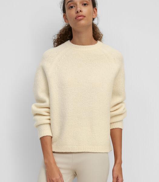Gebreide trui van een heerlijk zachte scheerwolmix