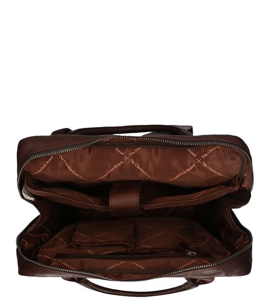 The Chesterfield Brand Yonas Laptop Backpack brown