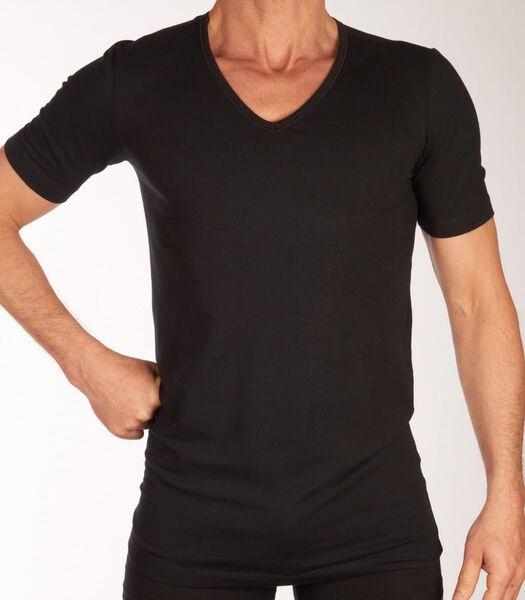 T-shirt v-hals 2 pack shirt 95/5 h-xl