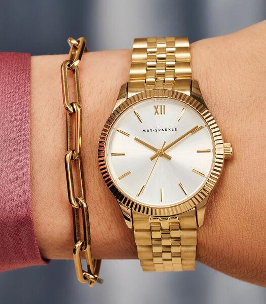 City Chique Horloge goudkleurig MSE001