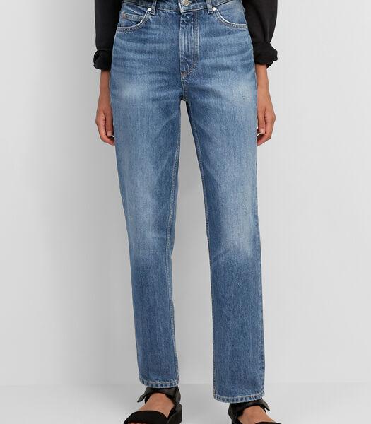 Jeans model TÖRE straight high waist van zuiver katoen