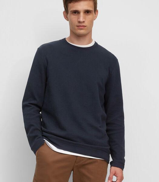 Haut à manches longues en jersey ottoman