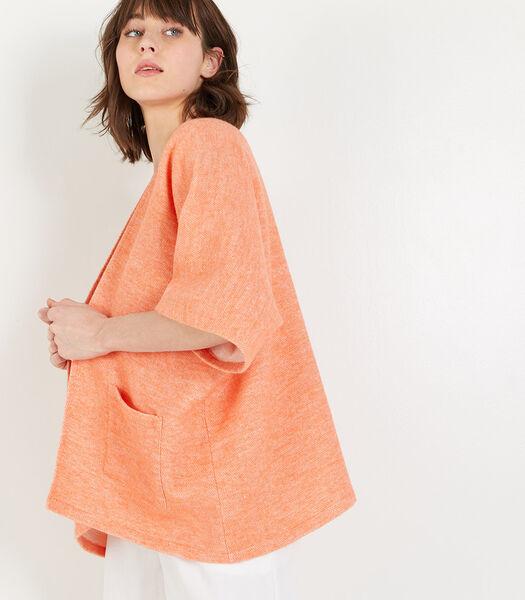 Homewear korte poncho katoen