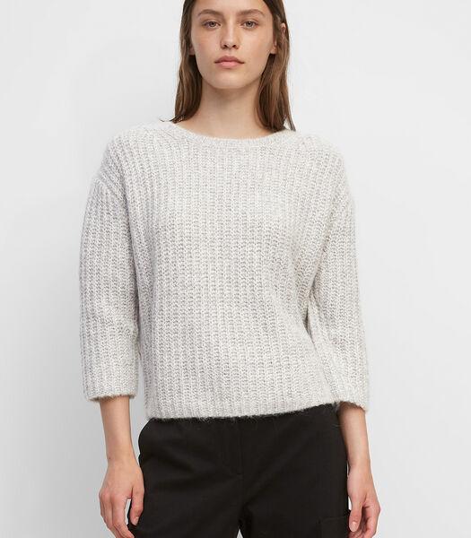 Gebreide trui van heerlijk zacht mouliné-garen