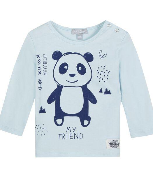 T-shirt met lange mouwen en panda print