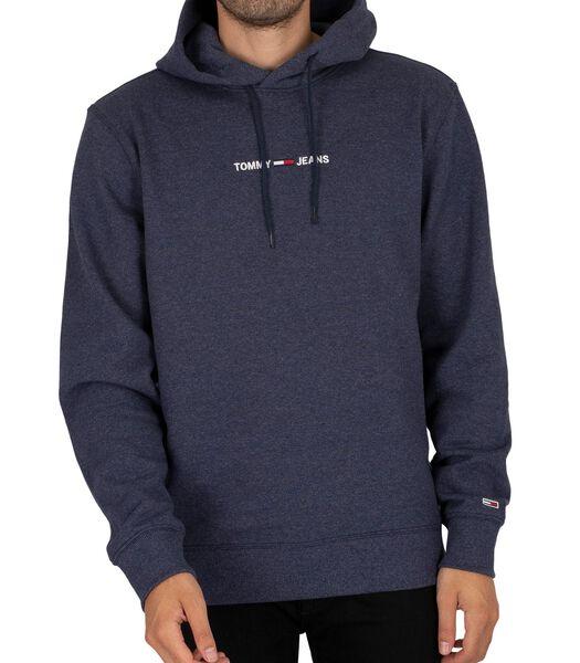 Hoodie met recht logo