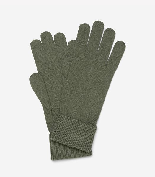 Handschoenen van een zachte mix van katoen en scheerwol