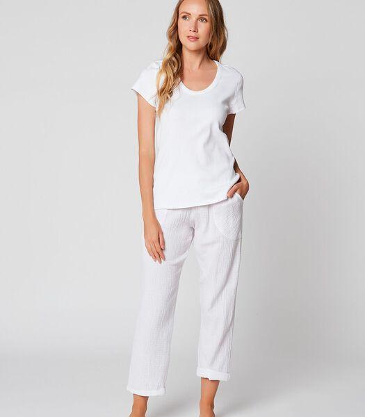 Katoenen t-shirt met korte mouwen ESSENTIEL 131 Wit