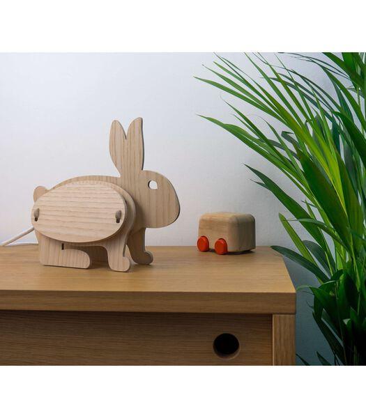 Houten lamp voor kinderen, ZOO Lapin