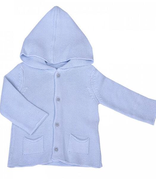 Cardigan bébé en tricot de coton bio