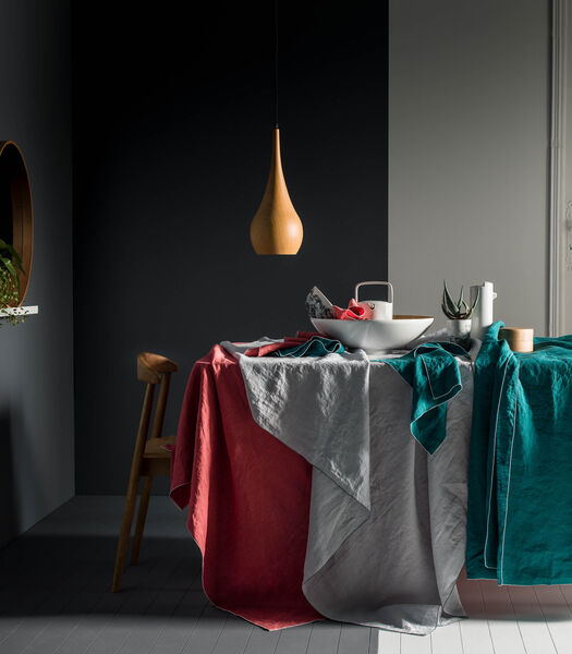 Tafelkleed in gewassen linnen, AUTOUR DU LIN