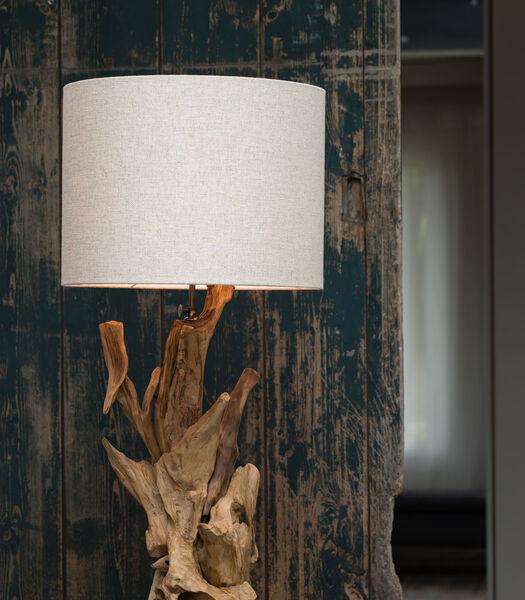 Pied de lampe IKAL - bois brun naturel