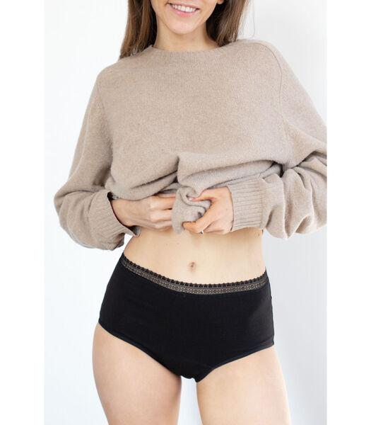 Hoge menstruatieonderbroek BIEN ETRE BIO zwart