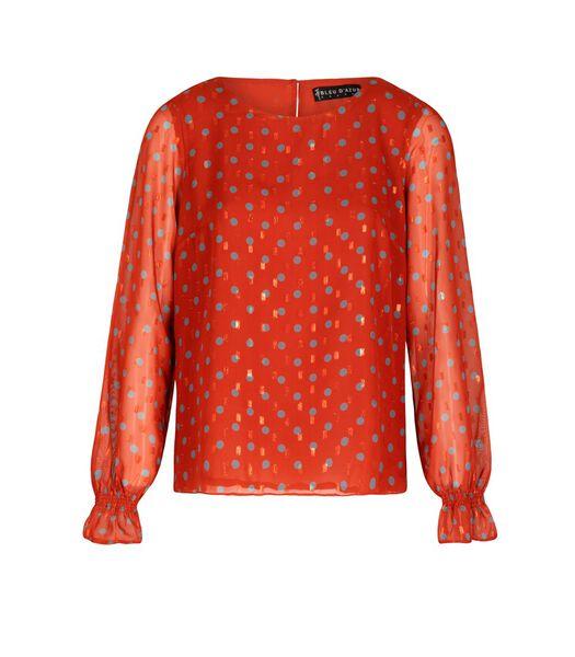Lurex blouse met polka dots DISCO