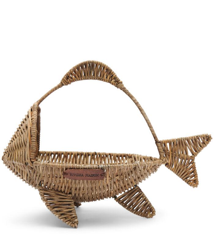 Rustic Rattan Happy Fish Basket image number 0