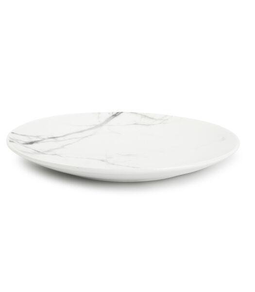 Plat bord 19cm marble Stone - set/4