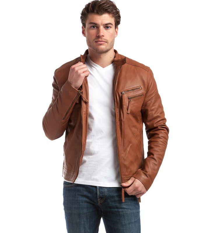 ALESSANDRO  jas in schapenleer biker stijl image number 0