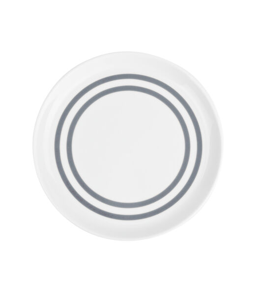 Assiette plate 19,5cm gris Stripes - set/6