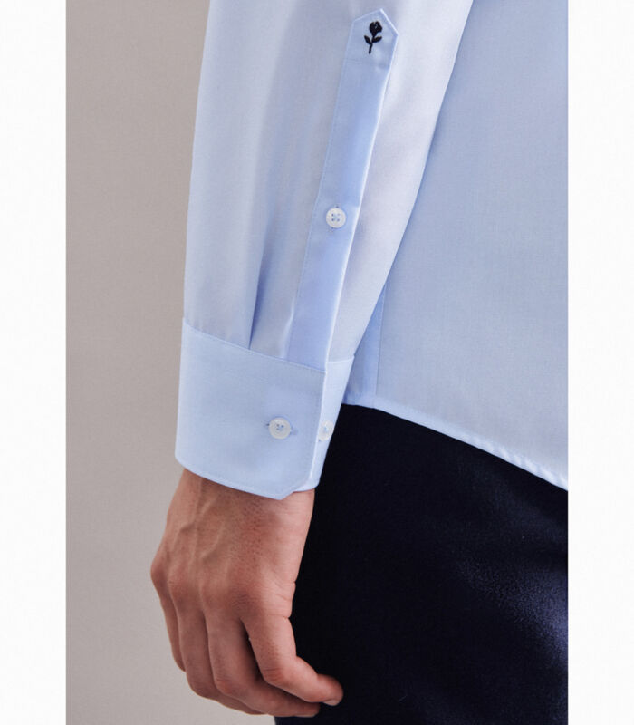 Overhemd Regular Fit Lange mouwen Uni image number 3