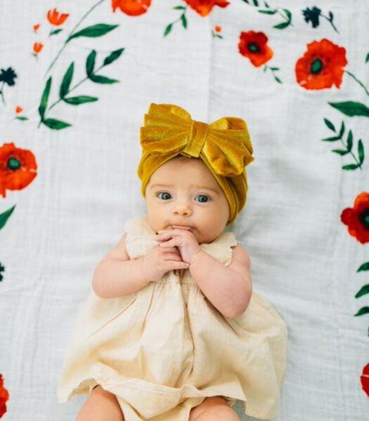 Couverture photo pour bébé (Summer poppy)